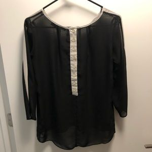 Sheer Top with Back Buttons
